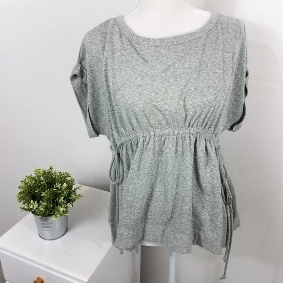 Caslon Tops - Caslon Gray Tie Waist Peplum T Shirt XS Petite